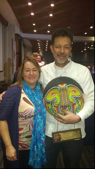 Milciades y Elizabeth Montoya, presidenta Sintraunicol