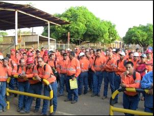 Trabajadores del sector minero-energético.