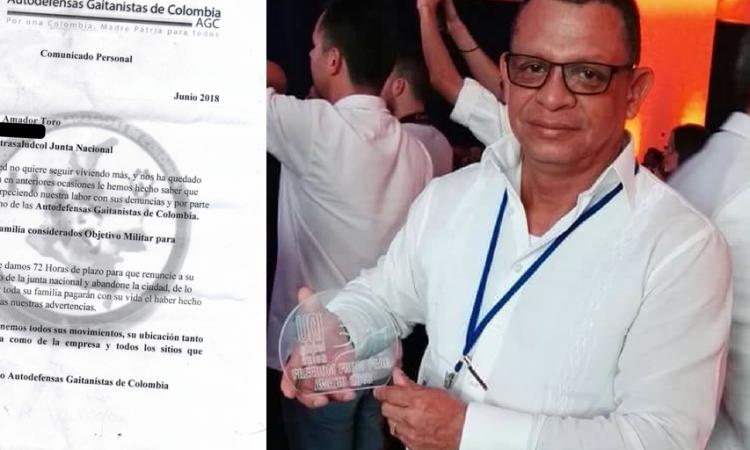 Amenazan de muerte a líder de Sintrasaludcol Barranquilla